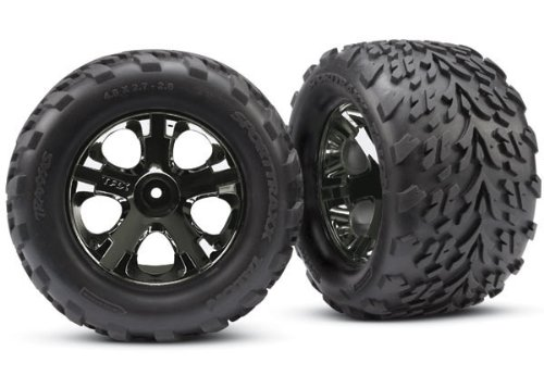 Traxxas 3669A Montierte, geklebte Reifen und Räder, Schwarz, 2.8-Inch
