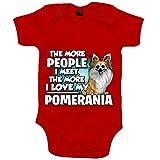 Body bebé I love my Pomerania raza perro - Rojo, Talla única 12 meses