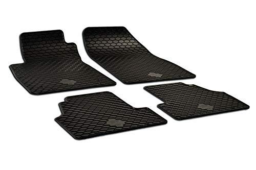 J&J AUTOMOTIVE   Noir Tapis DE Sol en Caoutchouc Compatible avec Opel Mokka/Mokka X 2012-2020 4pcs