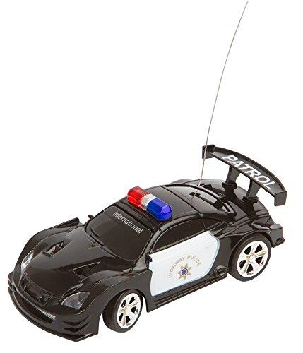 Invento just play 50009901 RC : Police Mini Racer, télécommandée Voiture de Police, Noir/Blanc