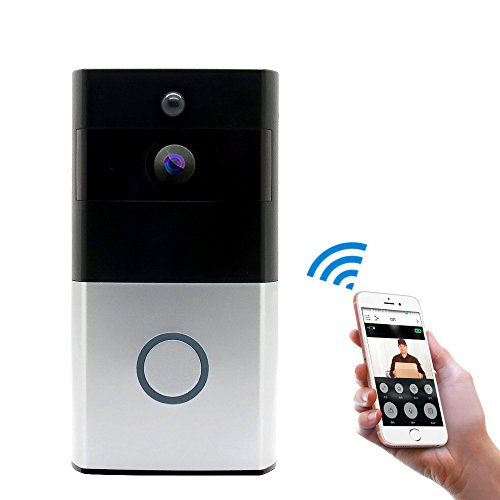 MIGOOZI Wi-Fi Video Doorbell,Wireless Smart Doorbell 720P HD WiFi Security Door Camera,Real-Time Two-Way Talk Video,Night Vision, PIR Motion Detection App Control iOS Android