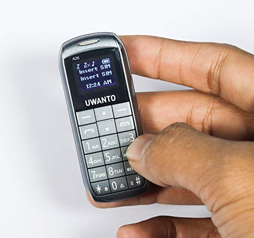 UWANTO G-12 Smallest Feature Keypad Secret Mobile Phone with Bluetooth,Dual Sim and Big Battery