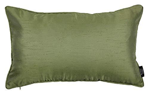 McAlister Textiles Rocco Cuscini Decorativi in Seta | Federa Copricuscini Ideale per Divano, Letto, Sedie | Satinato Lucido Taglia - Verde Salvia 60x40cm