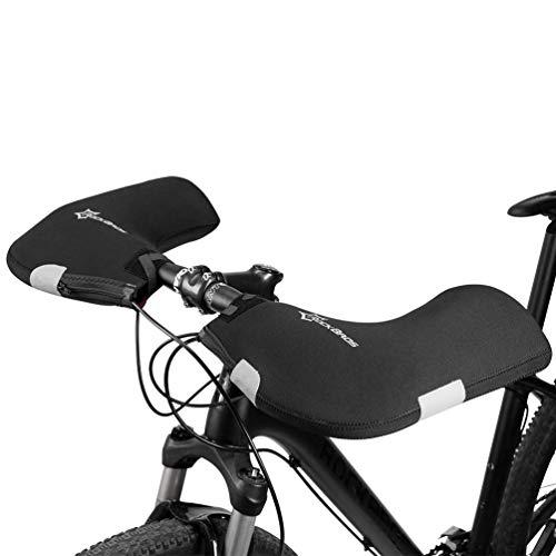 ROCKBROS Lenker Handschuhe Winter Winddicht Lenkerstulpen für Fahrrad MTB Motorrad E-Bike Roller Scooter Gefüttert Wasserabweisend Reflektierend