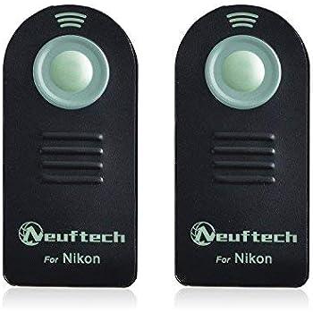 Neuftech 2pcs Déclencheur Infrarouge Télécommande Mini télécommande pour Nikon D610/D600/D90/D80/D70/D70s/D60/D40 x/D3000/D3200 D3300/D5000/D5100/D5300/D7000/D7100/Coolpix 8800/8400