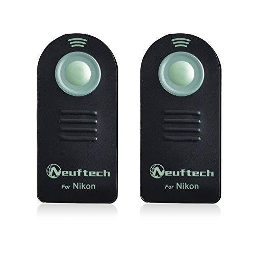 Neuftech 2x mando a distancia inalámbrico para cámaras nikon D5300 /D3200 /D3000 /D5000 /P7000 /P7100 /D90 /D80 /D50 /D70s /D70 /D40X