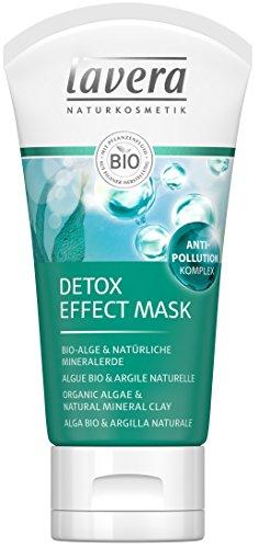 lavera Masque détoxifiant formule anti-pollution / Detox Effect Mask - Vegan - Cosmétiques naturels - Ingrédients végétaux bio - 100% naturel 50ml