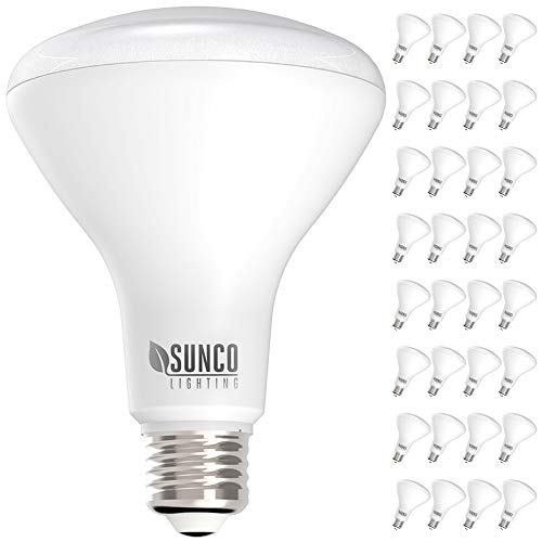 Sunco Lighting 32 Pack BR30 LED Bulb 11W=65W, 2700K Soft White, 850 LM, E26 Base, Dimmable, Indoor Flood Light for Cans - UL & Energy Star