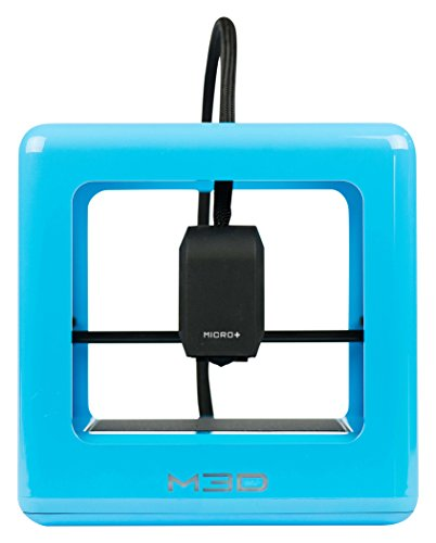 M3D Micro+ Desktop 3D Printer for Home, Work, and School Use, Includes FREE Software, Compatible with 1.75mm PLA / Tough / ABS-R / PETG Filament Materials, Blue