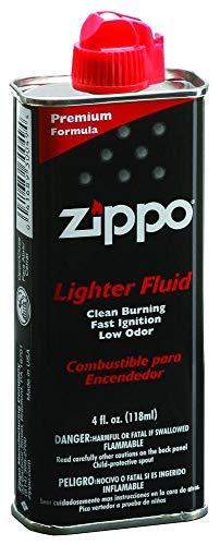 Zippo Unisex– Erwachsene Original f. Benzin Feuerzeuge 125 ml mit Kunststoff-Ventil, schwarz, 1-Pack