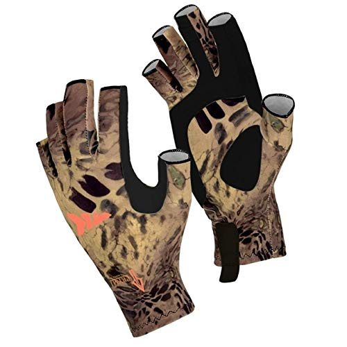 Fishing Gloves SPF 50 Sun Men Hands Protection Gloves Breathable Outdoor Sportswear Gloves Carp Fishing Apparel- MP,L