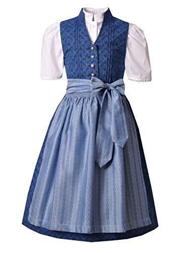 Kinderdirndl Veronika blau Set-3tlg. Turi, Gr. 140