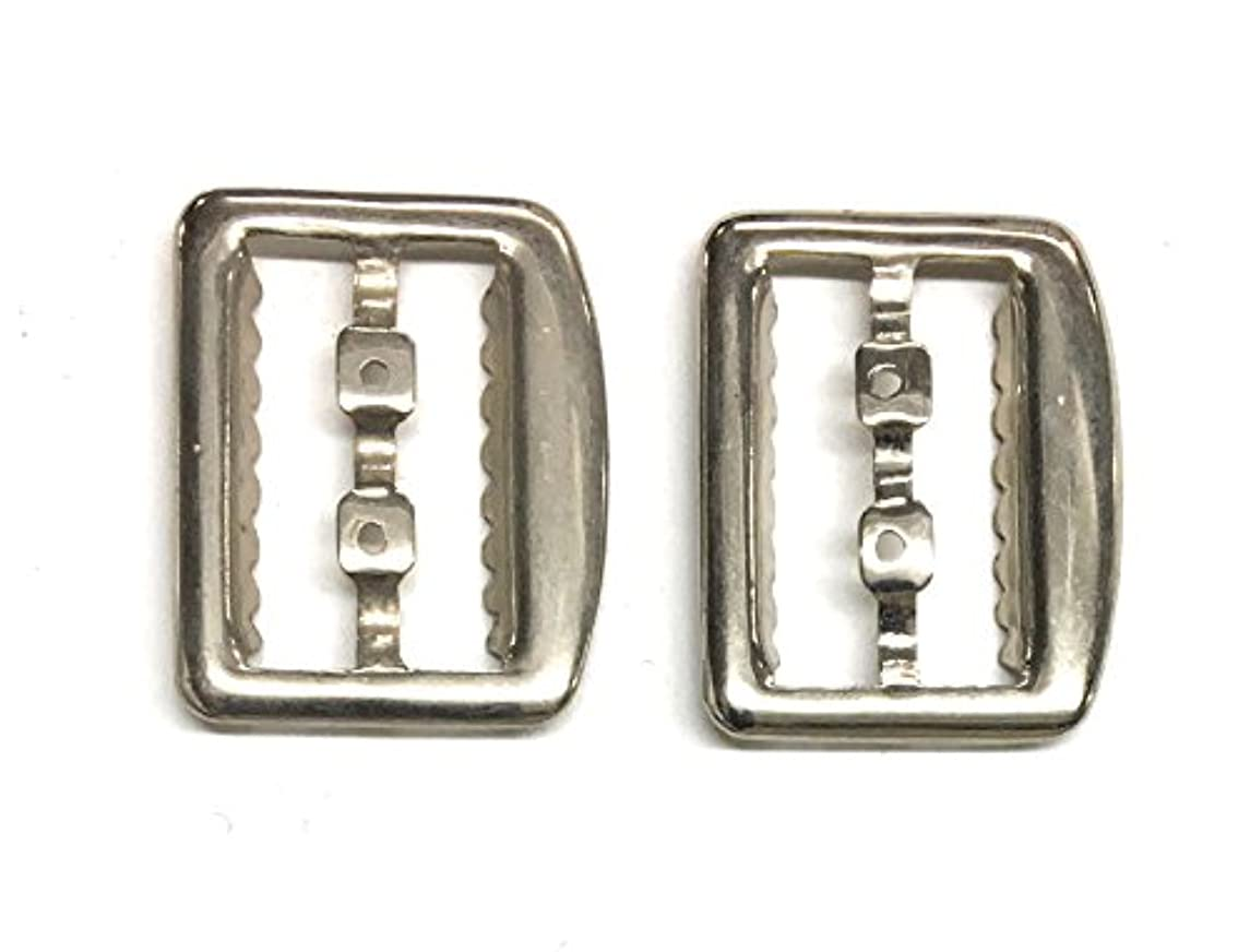 2 Vest Buckle , Slide Fastner , Silver Nickle Plating- 7/8