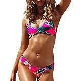 Luckycat 2018 Verano Ropa de Baño, Mujer Tankinis Bikinis Brasileños, Mujer Chicas Dama Disfraz Acolchado Bañador Floral Monokini Playsuits Trajes de Baño Bikini