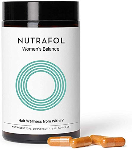 Nutrafol Women's Balance Hair Growth For Thicker, Stronger Hair Peri- and Postmenopause (4 Capsules Per Day - 1 Month Supply)