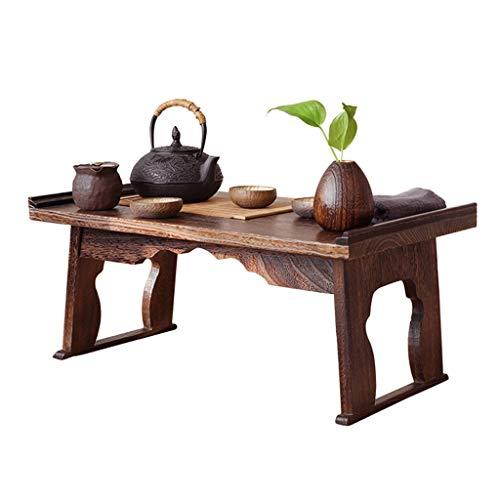 Tables De Lit en Bois Massif Baie Vitrée Basse Ménage Tatami Bureau Lit D'étude Balcon Bureau Rétro Basse De Lit Pliable