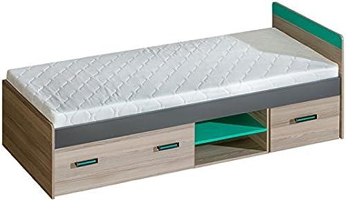 calidad fantástica SMARTBett Smart Cama con 2cajones y colchón Fresno Oscuro Oscuro Oscuro verde  suministramos lo mejor