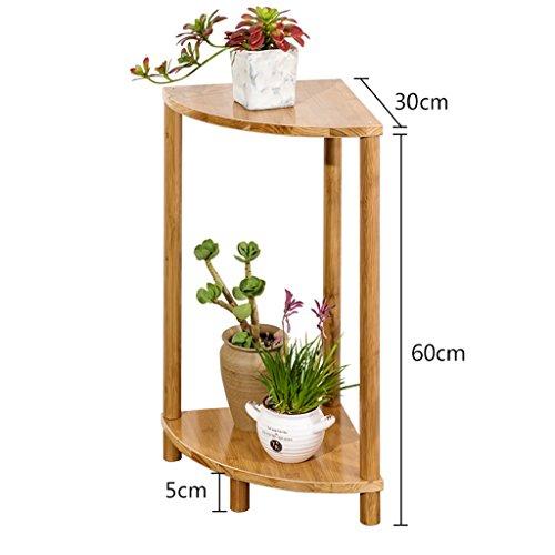 BOBE SHOP- Support simple de fleur de support de fleur de bambou simple moderne, support de fleur de salon de fleur de plate-forme succulente de fleur (taille : 60 * 30 * 30cm)