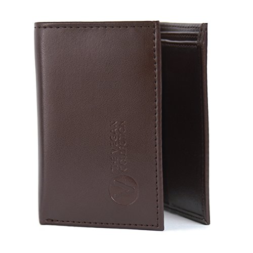 The Vegan Collection Brown Armstrong Tri-fold Wallet
