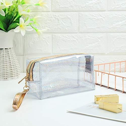 Fashion PVC Design Women Cosmetic Bag Laser Makeup Case Transparent Beauty Organizer Pouch Female Jelly Bag Clear Pouch 101-8
