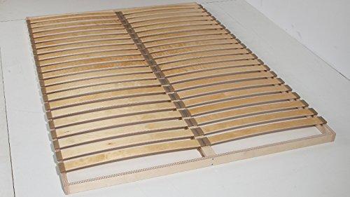 Unbekannt Lattenrost 140x200 cm Lattenrahmen 40 Flexible Leisten je Liegefläche breitere Federleisten ca. 55 mm Günstig massiv
