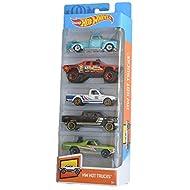 Hot Wheels 2019 HW Hot Trucks 5-Pack ('52 Chevy, Sandblaster, Datsun 620, 2009 Ford F-150, '68 El Camino)