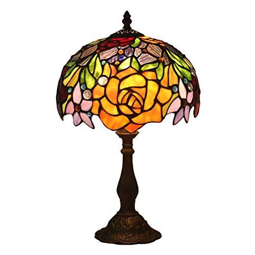 DLXTD Lampes de Bureau Vintage européen Rose Lampe de Table Rétro Chambre créative Chambre de Mariage Table de Chevet Light Bar Western Restaurant Lampe de Chevet