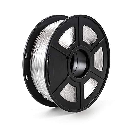 XFC-3D, Filamento Stampante 3D 1.75mm 1kg / 2.2lbs PLA PETG TPU Nylon Fibra di Carbonio conduttivo ABS PC Pom ASA Legno Hips PVA filamento di plastica (Colore : PETG Transparent)