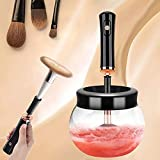 Máquina de limpiador de pinceles de maquillaje - Máquina limpiadora de cepillo de maquillaje con 8 collares de goma Lavado y seco en segundos Spinner de cepillo cosmético profundo para todos los cepil