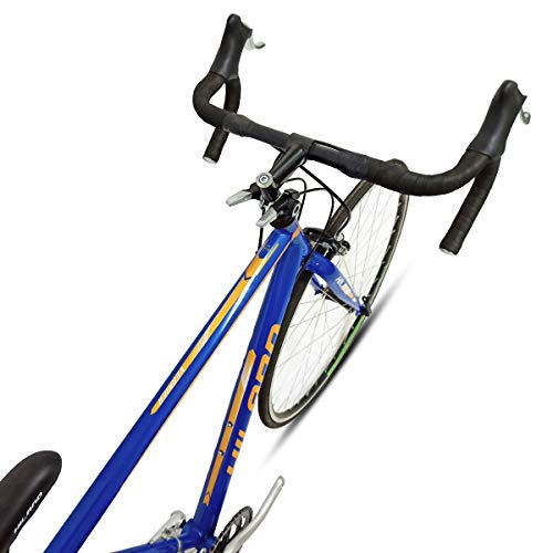 Hiland Road Bike 700C City Commuter Bicycle with 14 Speeds Drivetrain Blue 50cm Frame