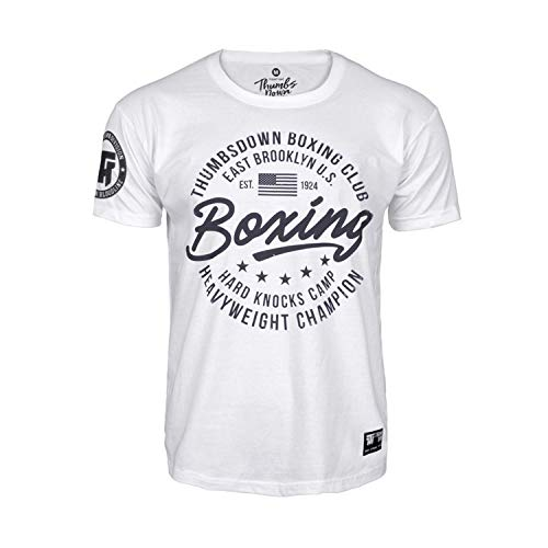 Thumbs Down Boxing Club T-Shirt para Hombre. Heavy Weight Champion. Boxen. Artes Marciales. Gym. Training. Casual(Talla Large)