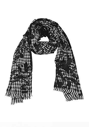 s.Oliver Damen 39.809.91.6471 Schal, Grau (Grey/Black Check 99n1), One Size (Herstellergröße: 1)