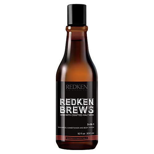 Redken Brews 3-IN-1 Shampoo For Men, Shampoo, Conditioner And Body Wash, Mens Shampoo 10.1 fl. oz