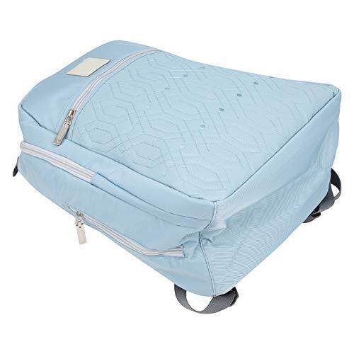 Mochila de la bolsa de pañales, mochila impermeable elegante del bebé de la mamá de nylon, para caminar que viaja de compras a casa(Jazz blue)