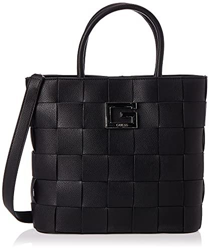Guess Women's Liberty City Top Zip Handbag, Black, Taglia Unica