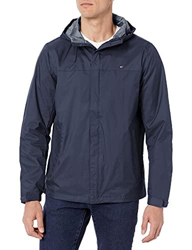 Tommy Hilfiger Men's Waterproof Breathable Hooded Jacket, Navy, Medium