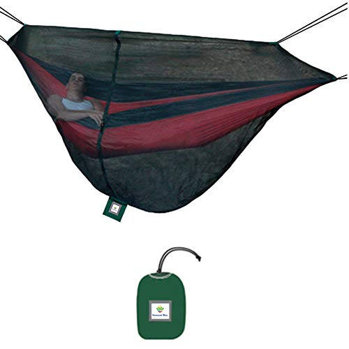 Hammock Bliss Mosquito Net Cocoon -The Ultimate Bug Screen Mossy Netting Canopy For Your Camping Hammock With Insect Proof No See Um Mesh – Make Hammock Camping A Bug Free Experience