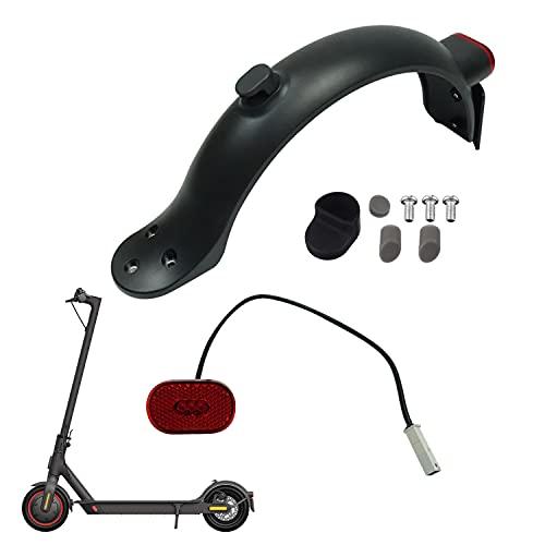 Yungeln Guardabarros trasero para scooter con faros traseros compatible con scooter eléctrico Xiaomi M365 Pro2