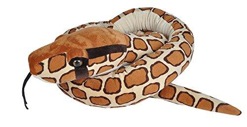 Wild Republic 21690 Jumbo Plüschschlange Burmesische Python, Tigerpython Kuscheltier, 280 cm, Multi