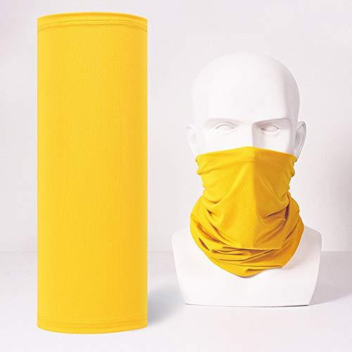 ZXL Bandana Hoofdband, uniseks, head wrap, sjaal, armband, pure color, hoofddeksel, slabbetjes, zonwering, ademende halsbedekking voor volwassenen en kinderen, 2 stuks