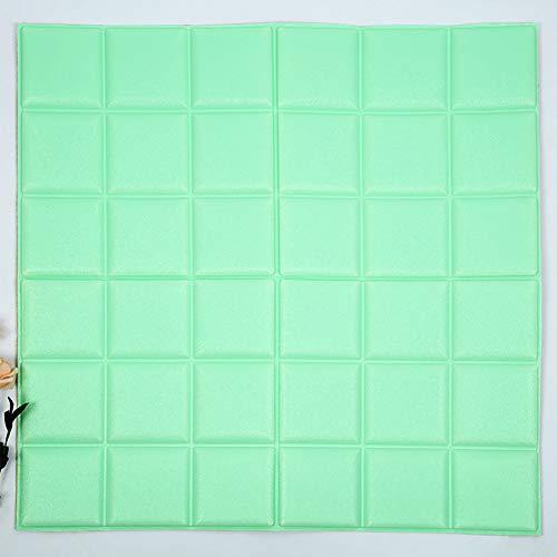 RONSHIN Huis 60x60cm Waterdichte Zelfklevende 3D Faux Lederen Behang voor Woonkamer Slaapkamer Kids Kamer Kwekerij Home Decor