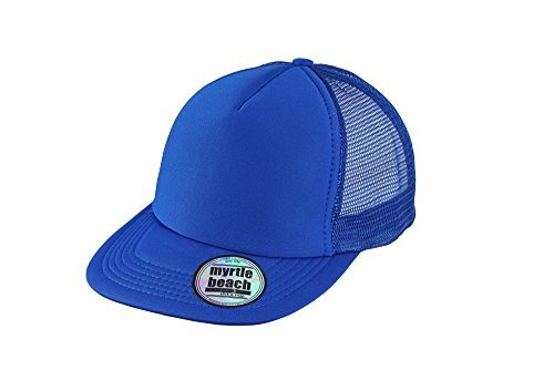 MYRTLE BEACH 5 Panel Flat Peak Cap in royal Taille: Taille unique