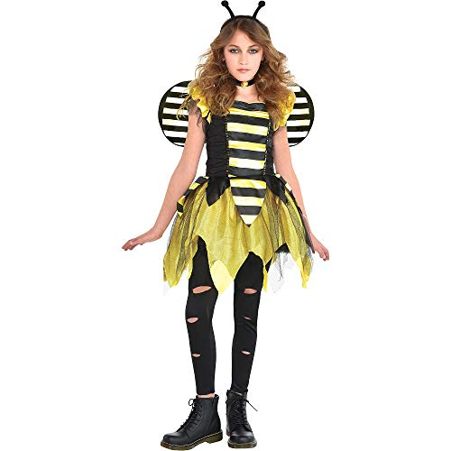 Zom Bee Halloween Costume for Girls, Large, with Included Accessories, by Amscan