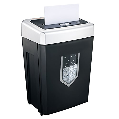 Bonsaii 14-Sheet Cross-Cut Heavy Duty Paper Shredder, 30-Minute Continuous Running Time, Credit Card/Staples Shredders for Office, Quiet Shredding Machine with Jam Proof System (C169-B)