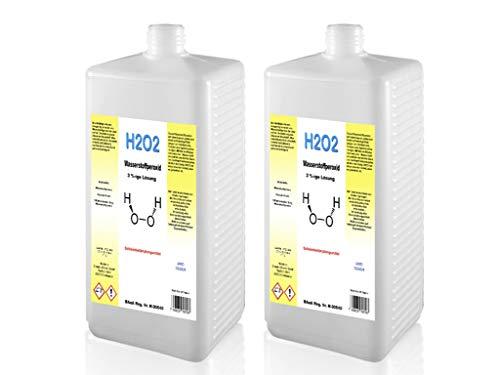 2 Liter Wasserstoffperoxid 3% - unstabilisiert - Emanto - Made in Germany
