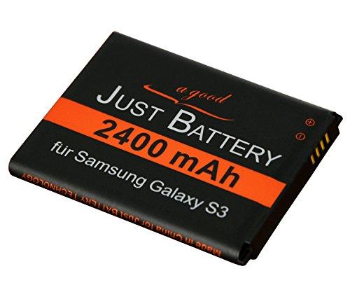 JuBaTec original Akku für Samsung Galaxy S3 GT-i9300 mit 2400 mAh ersetzt EB-L1G6LLU