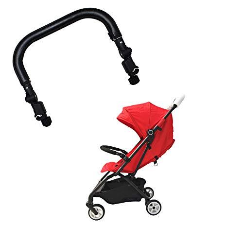 Barra paracolpi per passeggino, compatibile con Cybex Eezy S S+ Twist, in similpelle, colore: nero