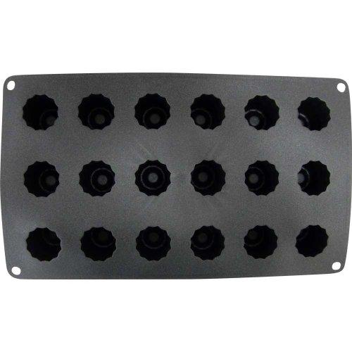 Patisse 19607 Moule à Mini Cannèles Bordelais 18 Cavités Platine Noir Paillette 30 x 17,5 cm