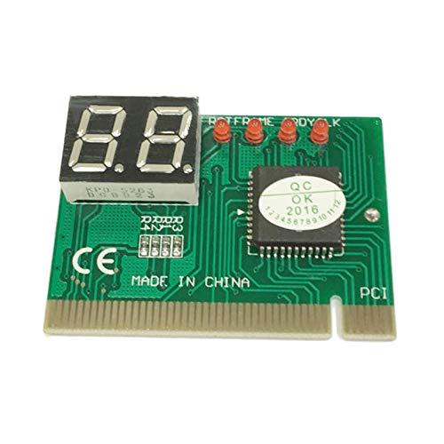 ghfcffdghrdshdfh PCI PC Tarjeta de diagnóstico 2 dígitos Placa Base Post probador analizador de comprobador portátil