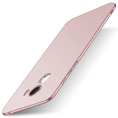 Caler  Funda Compatible/Reemplazo para Xiaomi Mi Mix 2 Funda, Esmerilado Mate Carcasas Ultra-Delgado y Ligera, Absorción de Choque Caso,Aislamiento térmico Protectora Anti-Rasguño (Rosa)